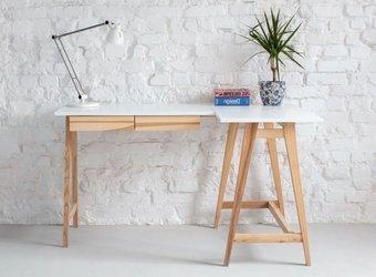 LUKA Ashwood Corner Desk W 135cm x D 85cm / White Right Side