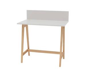LUKA Ashwood Writing Desk 85x50cm / Light Grey