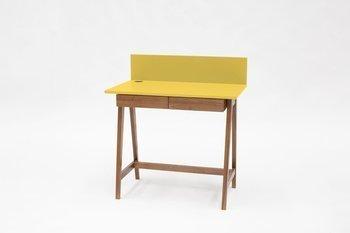 LUKA Writing Desk 85x50cm with Drawer Oak / Yellow