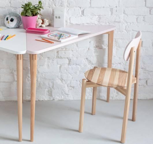 NAJA Corner Desk W114 x L85 x H75cm Dusky Pink