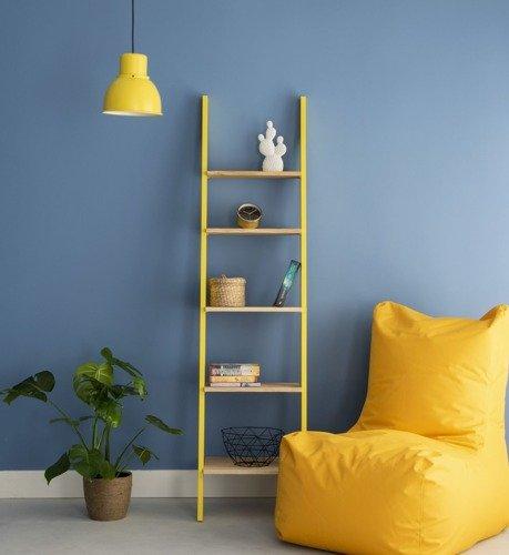 ASHME Ladder Shelf 45x35x180cm - Ashwood Shelves / Yellow