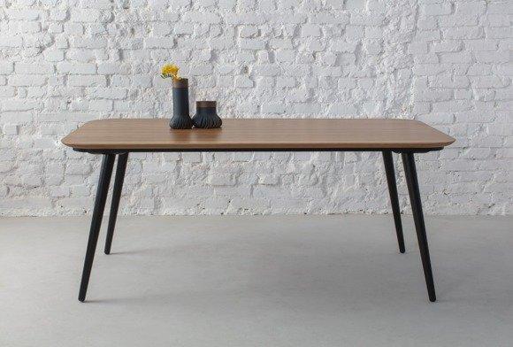 CONTRAST Dining Table 180x90x75cm - Oak / Black Legs