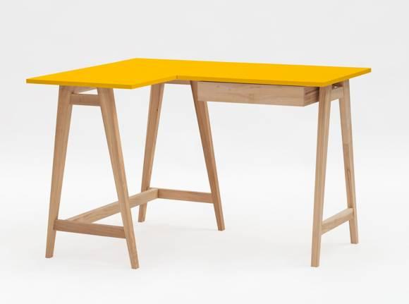 LUKA Ashwood Corner Desk W 115cm x D 85cm / Yellow Left Side