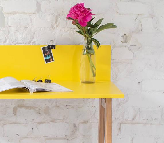 LUKA Ashwood Writing Desk 110x50cm / White