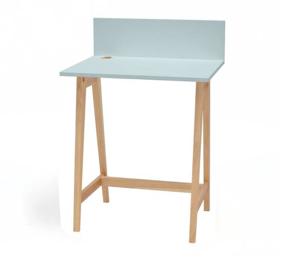 LUKA Ashwood Writing Desk 65x50cm / Light Turquoise