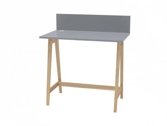 LUKA Ashwood Writing Desk 85x50cm / Dark Grey
