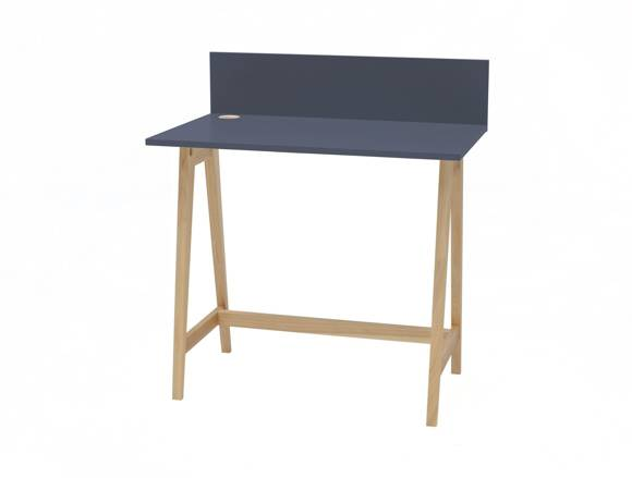 LUKA Ashwood Writing Desk 85x50cm  / Graphite