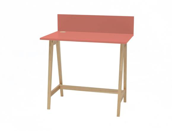 LUKA Ashwood Writing Desk 85x50cm / Living Coral