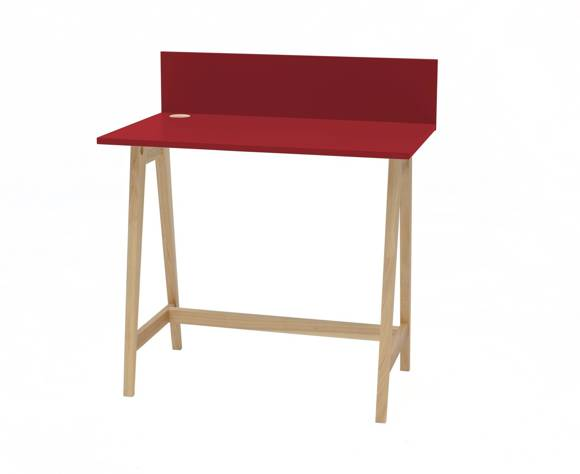 LUKA Ashwood Writing Desk 85x50cm / Red