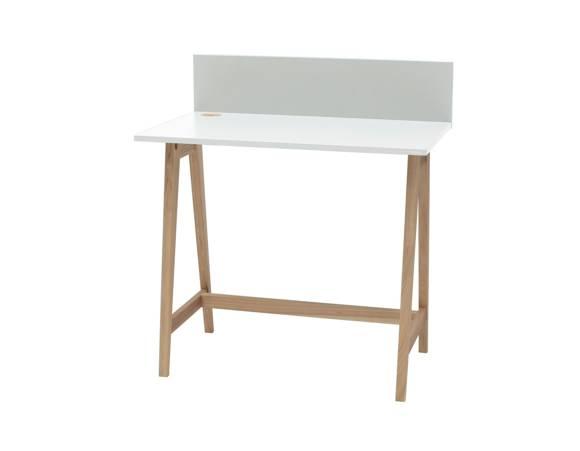 LUKA Ashwood Writing Desk 85x50cm / White