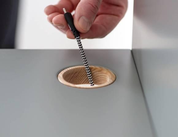 LUKA Writing Desk 65x50cm Oak / Navy Blue