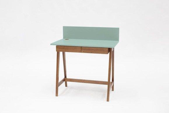LUKA Writing Desk 85x50cm with Drawer Oak / Mint