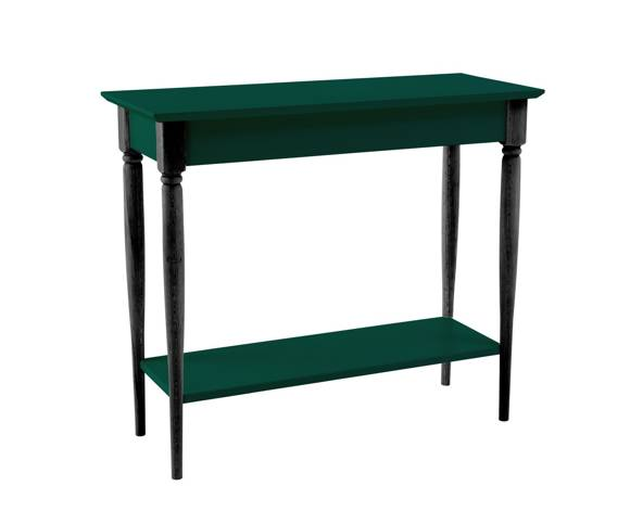 MAMO Console Table with Shelf 85x35cm Bottle Green Black Legs