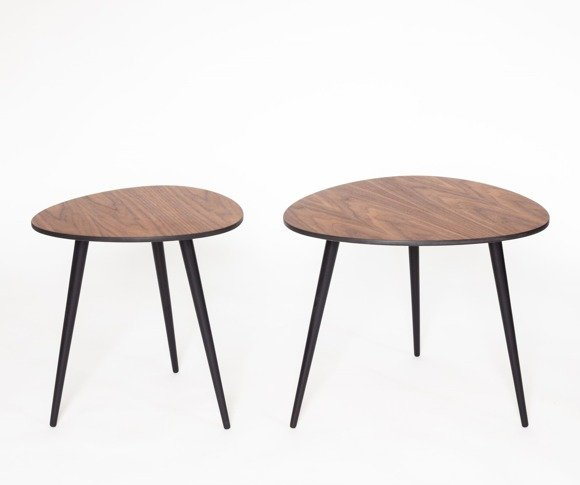 PAWI PICK Set of 2 Round Coffee Table 55x50cm + 42x39cm