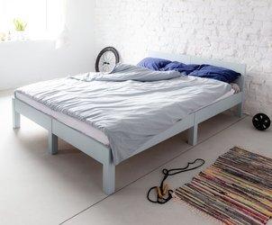 DABI Bett B 140 cm x L 200 cm / Hellgrau