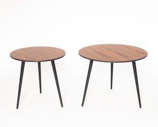 PAWI Runde Couchtisch-Set 57cm + 45cm