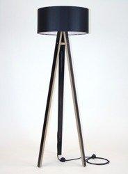 WANDA Stehlampe 45x140cm - Schwarz / Schwarz Lampenschirm / Schwarz