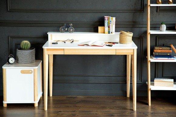 ASHME Schreibtisch Breite 110 x Tiefe 56 x Höhe 75cm - Weiß