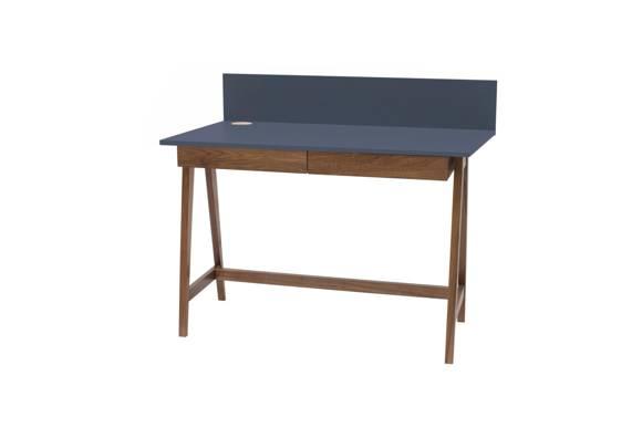 LUKA Schreibtisch 110x50cm mit Schublade Eiche / Graphit