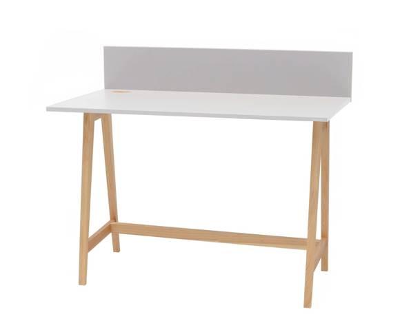 Luka Eschenholz Schreibtisch 110x50cm / Hellgrau