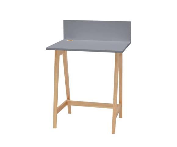 Luka Eschenholz Schreibtisch 65x50cm / Dunkelgrau