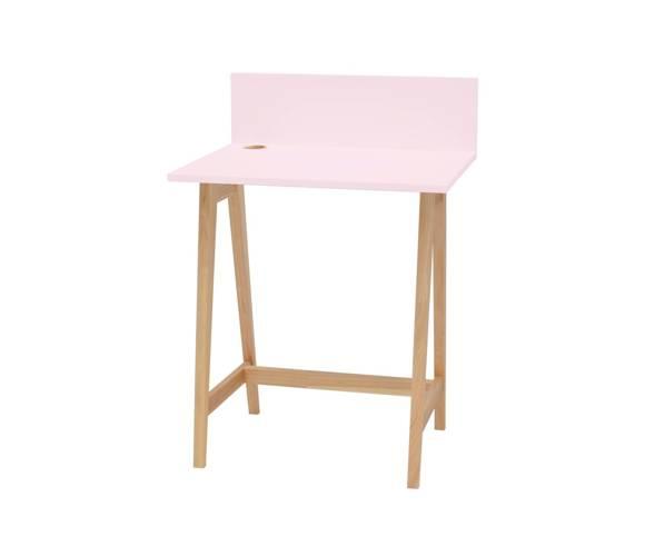 Luka Eschenholz Schreibtisch 65x50cm / Rosa