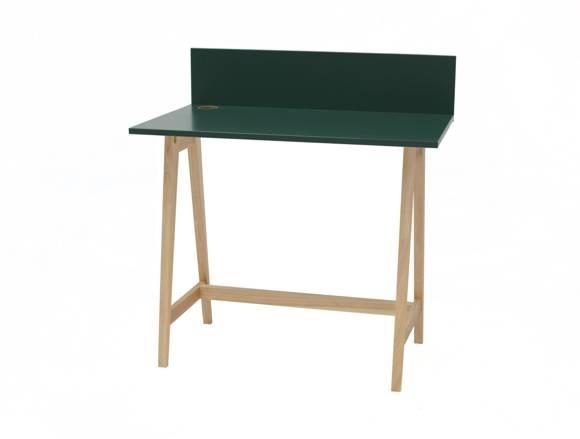 Luka Eschenholz Schreibtisch 85x50cm / Flaschengrün