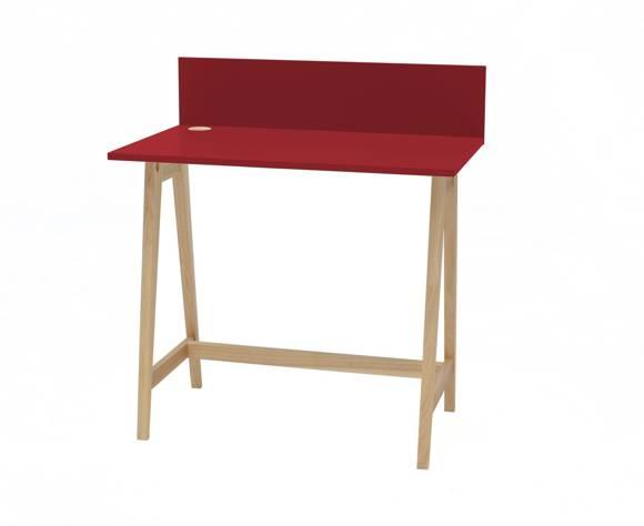 Luka Eschenholz Schreibtisch 85x50cm / Rot