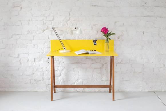 Luka Schreibtisch 110x50cm Eiche / Weiß