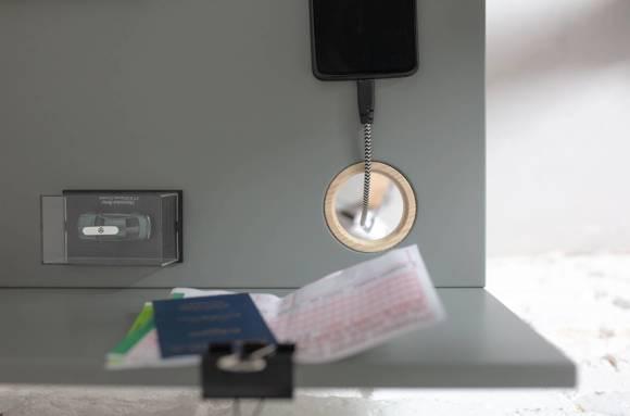 Luka Schreibtisch 65x50cm Eiche / Graphit