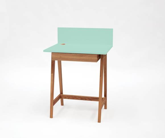 Luka Schreibtisch 65x50cm Eiche / Minze