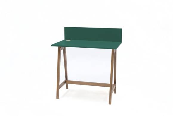 Luka Schreibtisch 85x50cm Eiche / Flaschengrün