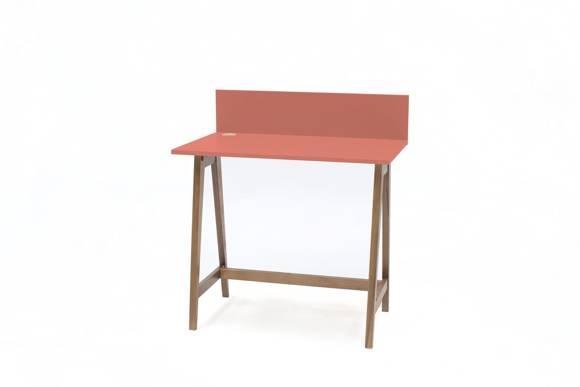 Luka Schreibtisch 85x50cm Eiche / Koralle