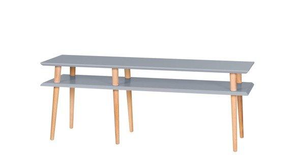 MUGO Sideboard 139x40x45 - Dunkelgrau