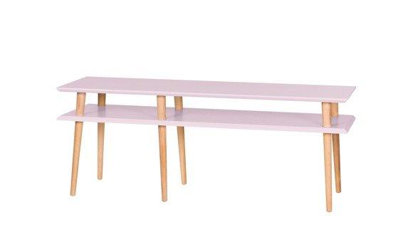 MUGO Sideboard 139x40x45 - Düsteres Rosa