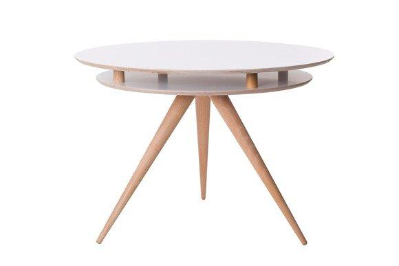 TRIAD Rund Tisch Dmr. 105cm x Höhe 75cm - Eschenholz / Weiß