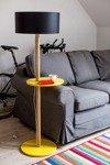 UFO Stehlampe 45x150cm - Gelb / Schwarz Lampenschirm